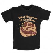 What happens at Grandmas stays at Grandmas Baby T Shirt