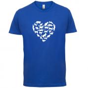 Love Heart Cats T Shirt