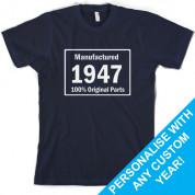 Custom Manufactured 100% original parts Birthday T Shirt