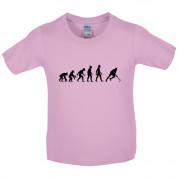 Evolution of Man Field Hockey Kids T Shirt