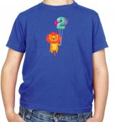 2nd Birthday Lion Kids T Shirt