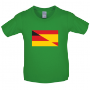 Half German Half Spanish Flag Kids T Shirt