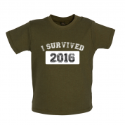 I Survived 2016 Baby T Shirt