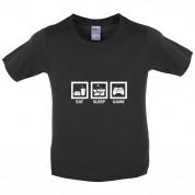 Eat Sleep Game Kids T Shirt