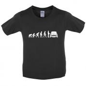 Evolution of Man Austin Cooper Driver Kids T Shirt