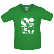 Evolution of Music Hardware Kids T Shirt