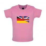 Half German Half British Flag Baby T Shirt