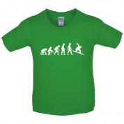 Evolution of Man Snowboard Kids T Shirt
