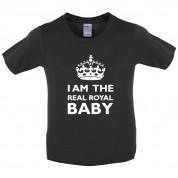 I Am The Real Royal Baby Kids T Shirt