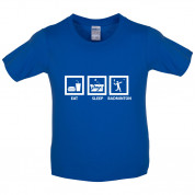 Eat Sleep Badminton Kids T Shirt
