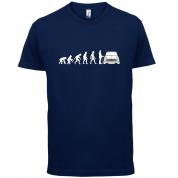 Evolution of Man Austin Cooper Driver T Shirt