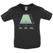 American Football Field Diagram Kids T Shirt