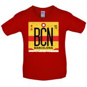 Barcelona Airport  Kids T Shirt