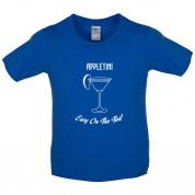 Appletini Easy On The Tini Kids T Shirt