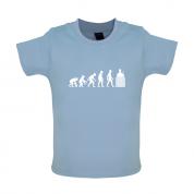 Evolution Of Man Brick Layer Baby T Shirt