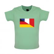 Half German Half French Flag Baby T Shirt