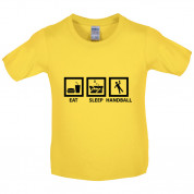 Eat Sleep Handball Kids T Shirt