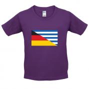 Half German Half Greek Flag Kids T Shirt
