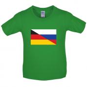 Half German Half Russian Flag Kids T Shirt
