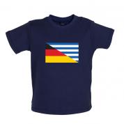 Half German Half Greek Flag Baby T Shirt