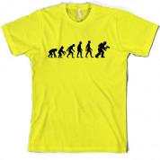 Evolution of Man Firefighter T Shirt