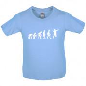 Evolution of Man Badminton Kids T Shirt