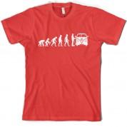 Evolution of Man Split Screen Camper T Shirt