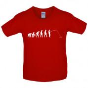 Evolution of Man Fishing Kids T Shirt