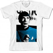 'Halftone' Spock Star Trek T Shirt