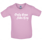 Only emo kids cry Kids T Shirt