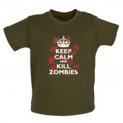Keep Calm and Kill Zombies Baby T Shirt