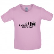 Born To Camp (Split Screen) Kids T Shirt