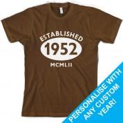 Established Roman Numerals Custom Birthday T Shirt