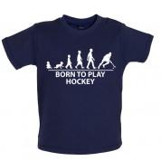 Born to play Hockey Baby T Shirt