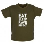 Eat Sleep Rave Repeat Baby T Shirt