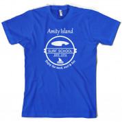 Amity Island Surf School Est.1974 T Shirt