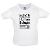 100% Organic Human Being Kids T Shirt