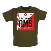 Amsterdam Airport  Baby T Shirt