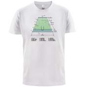American Football Field Diagram T Shirt