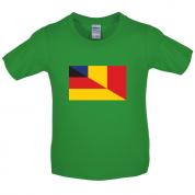 Half German Half Romanian Flag Kids T Shirt
