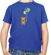 1st Birthday Bear Kids T Shirt