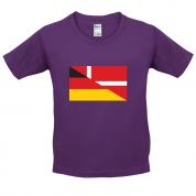Half German Half Danish Flag Kids T Shirt