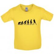Evolution of Man Baseball Kids T Shirt