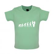 Evolution Of Man Tree Surgeon Baby T Shirt