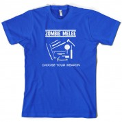 Zombie Melee Choose Your Weapon T Shirt