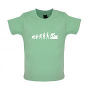Evolution Of Man Roofer Baby T Shirt